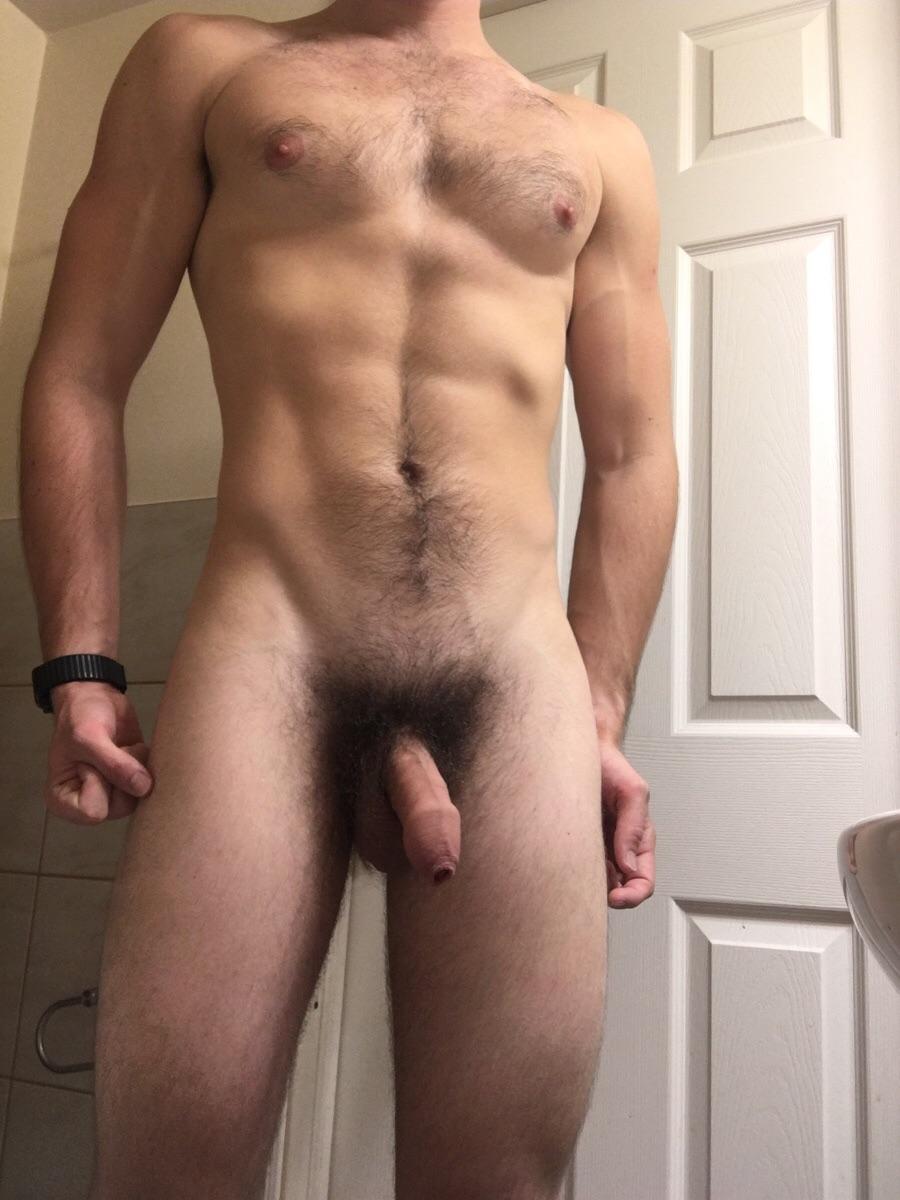 Beau sexe poilu au repos