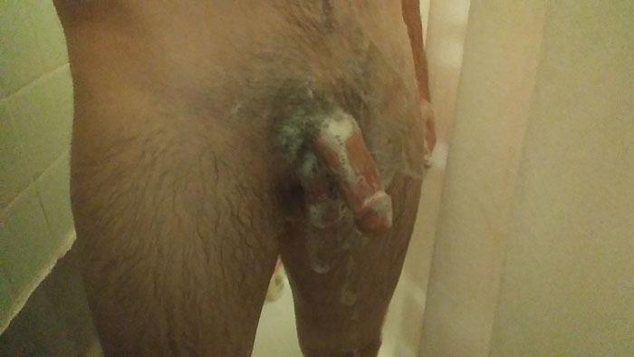 Bite normale pleine de savon